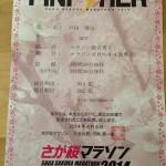 さが桜マラソン2014
